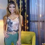 Hot Pinay poses fully clothed in her first adult video